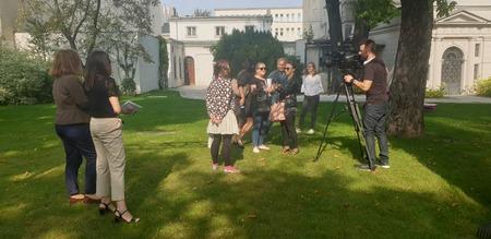 Konferencja prasowa poświęcona projektowi, fot. A. Jurek