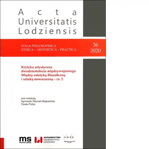 Nr 36/2020 Folia Philosophica . Ethica – Aesthetica – Practica