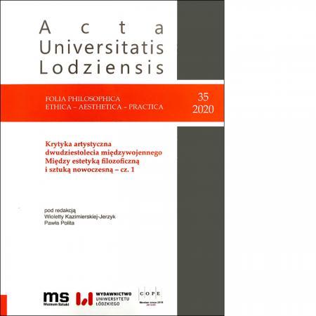 Nr 35/2020  Folia Philosophica . Ethica – Aesthetica – Practica