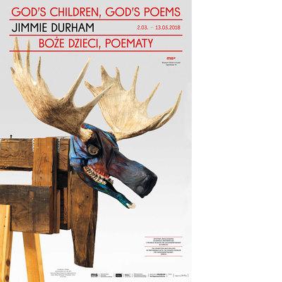 """Plakat kolekcjonerski. Jimmie Durcham. """"Boże dzieci, poematy"""""""