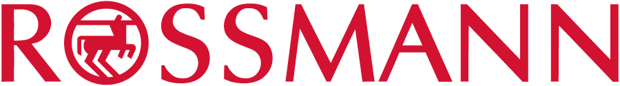 The picture presents the logo of Rossmann. It is a red writing in capital letters on a white background. In the letter