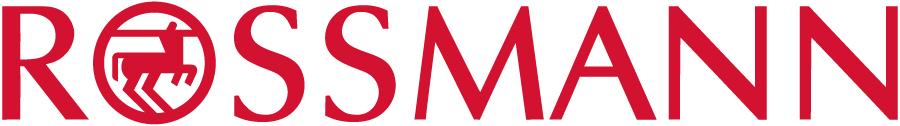 Grafika przedstawia logo Rossmanna. Jest to czerwony napis wielkimi literami na białym tle. W literę