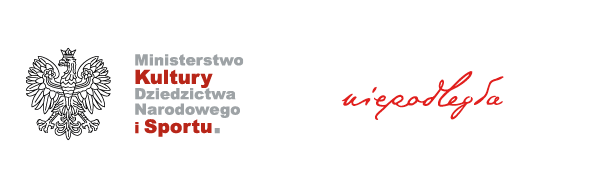 Grafika przedstawia logotypy Ministerstwa Kultury, Dziedzictwa Narodowego i Sportu (po lewej stronie) oraz logotyp programu