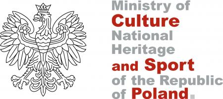 The picture shows logo of Ministry of Culture, National Heritage and Sport of the Republic of Poland. On the left, there is the emblem of Poland (eagle).